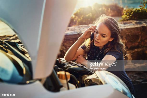 the engine just won't start - stranded stock photos and pictures