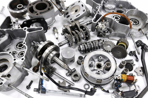 The engine resolution of the motorcycle 488965597