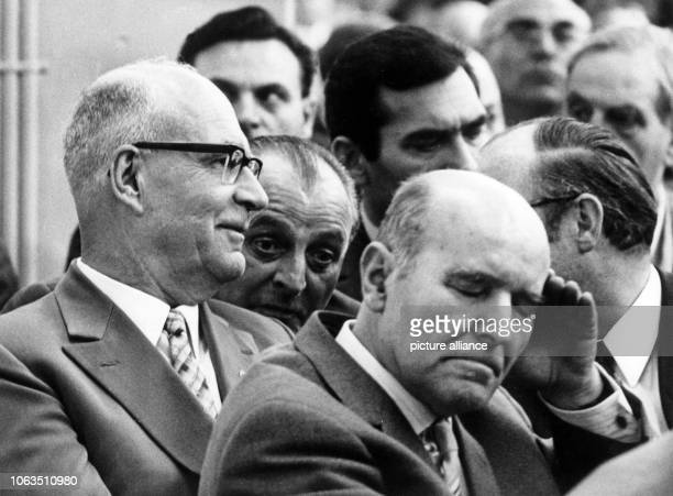 The engineer and inventor Felix Wankel duing the general meeting of the car manufacturer NSU in Neckarsulm on 26 April 1969 The mechanical engineer...