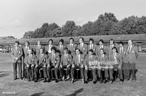 The England cricket team and staff pictured at Lord's Cricket Ground London prior to their tour of Australia 24th October 1978 Roger Tolchard Clive...