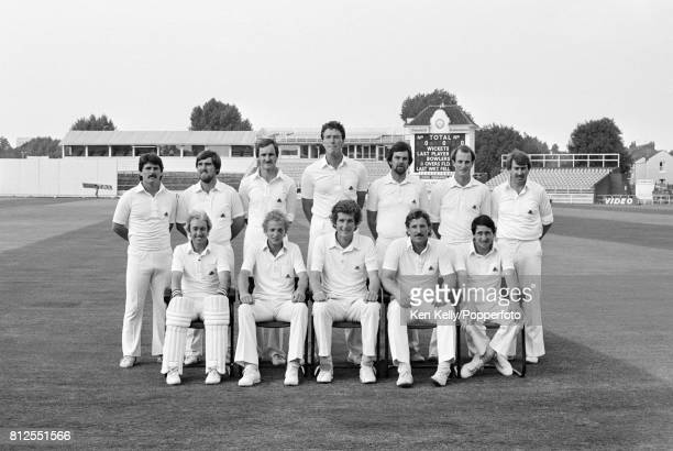 The England Cricket Team before the 1st Test match between England and Pakistan at Edgbaston Birmingham 28th July 1982 Back row left to right Allan...