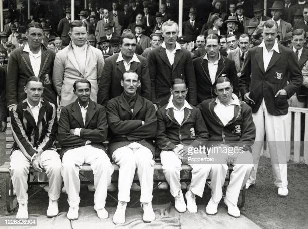 The England cricket team prior to the 2nd Test match against New Zealand at The Oval in London on 30th July 1931 England won by an innings and 26...