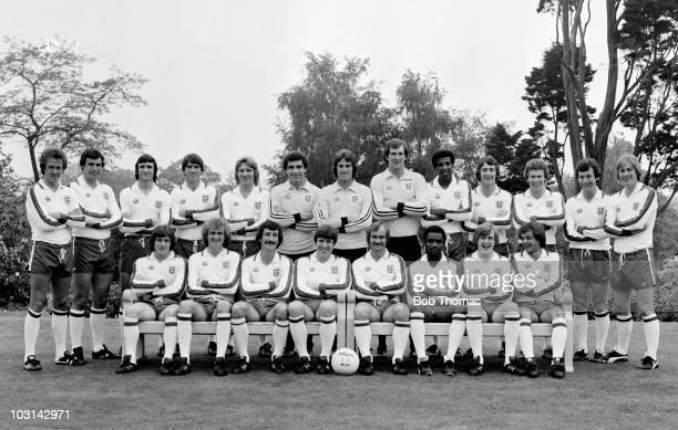 The England Football Team prior to their summer tour of Bulgaria Sweden and Austria photographed in London 1st June 1979 Back row Phil Neal Trevor...