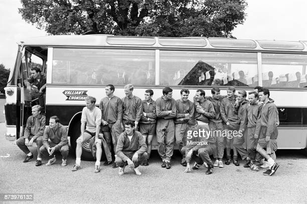 The England football team training at Roehampton the day before the 1966 World Cup Final match against West Germany 29th July 1966