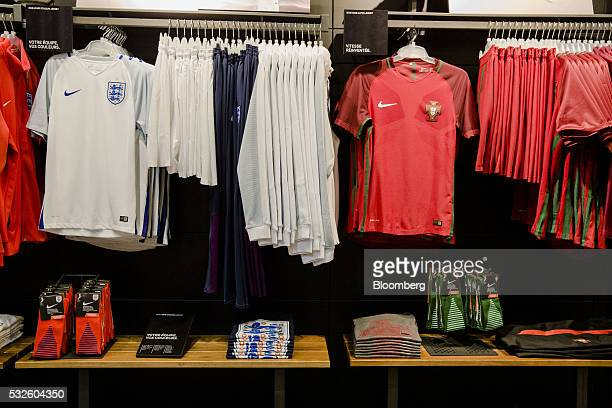 new styles 60478 e1897 Soccer Apparel On Display Inside A Nike Inc Store Ahead Of ...
