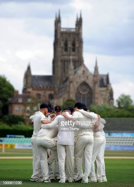 General view of play during Day Two of the Tour Match match between England Lions and India A at New Road on July 17 2018 in Worcester England