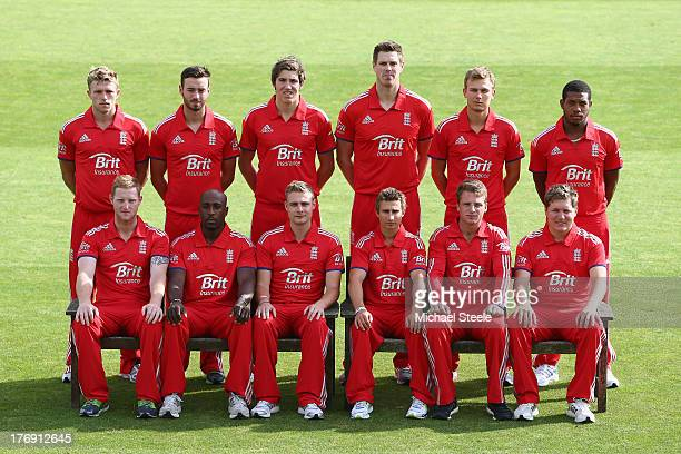 The England Lions team group ahead of the England Lions training session at The County Ground on August 19 2013 in Bristol England