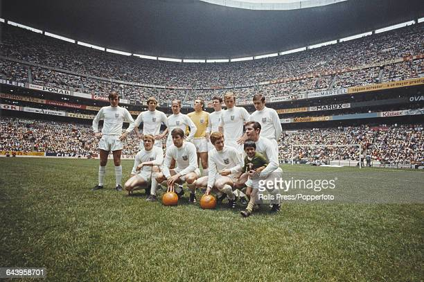 The England national football team posed together inside the Azteca Stadium in Mexico City prior to their International Friendly game against Mexico...