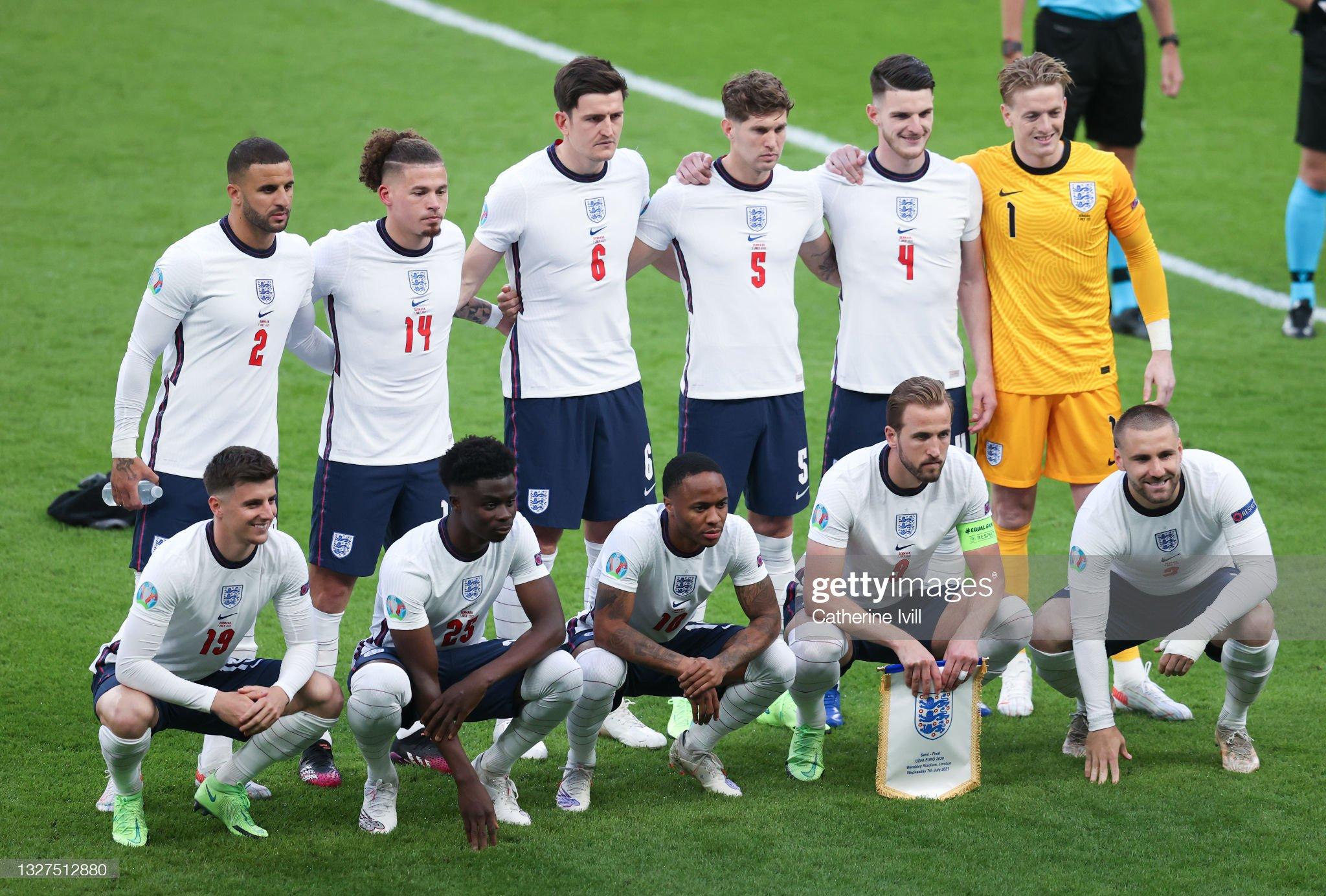 England v Denmark  - UEFA Euro 2020: Semi-final : News Photo