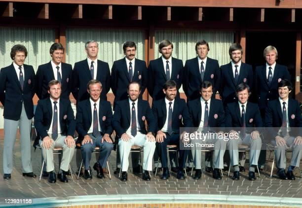 The England 'rebel' squad that played two unofficial Test matches against South Africa in Johannesburg 12th March 1982 Back row Wayne Larkins Bob...