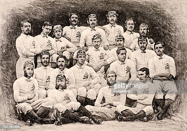 The England rugby union team which played Scotland in Edinburgh circa March 1871 Back row left to right J E Bentley A E Gibson F Tobin D L P Turner F...