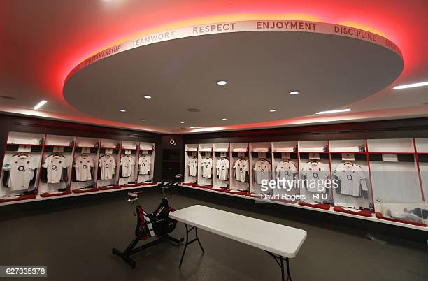 The England shirts hang in the dressing room prior to kickoff during the Old Mutual Wealth Series match between England and Australia at Twickenham...