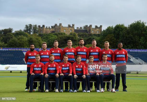 The England T20 squad pictured ahead of the T20 against the West Indies at Emirates Durham ICG on September 15 2017 in ChesterleStreet England