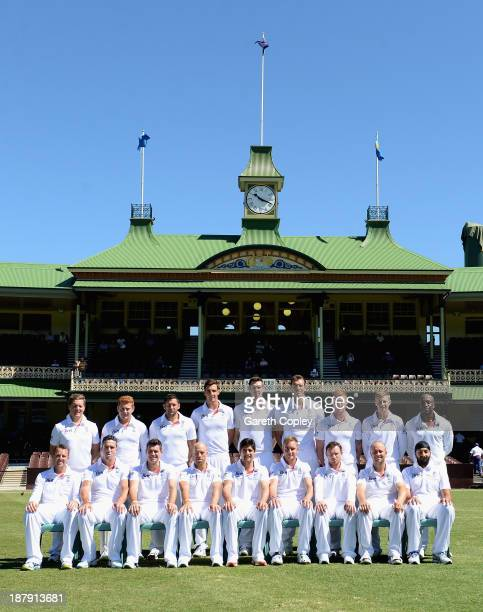 The England team at Sydney Cricket Ground on November 14 2013 in Sydney Australia
