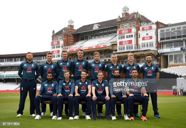 The England team at The Kia Oval on June 12 2018 in London England