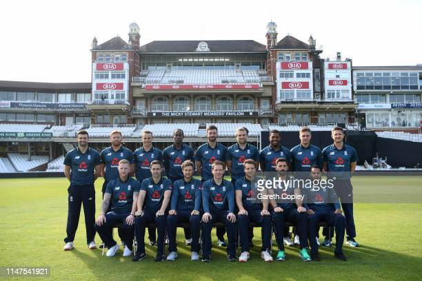 The England team at The Kia Oval on May 07, 2019 in London, England.