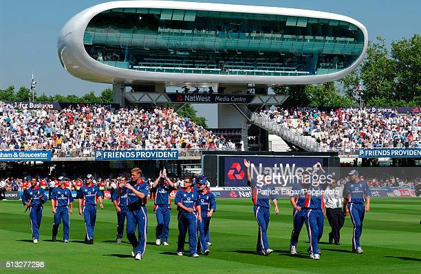 The England team do a lap of honour after winning the NatWest Series Final One Day International between England and South Africa at Lord's London...