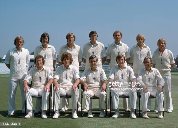 The England team during the 1st Test match between England and Pakistan at Edgbaston Birmingham 1st June 1978 Pictured are Clive Radley Geoff Miller...