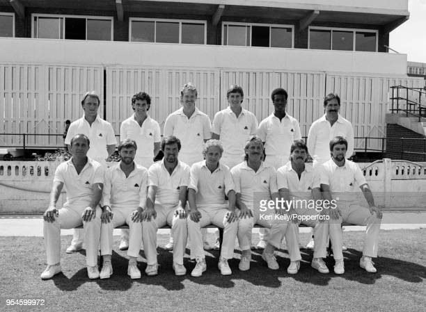 The England team for the 1st Texaco Trophy One Day International between England and Australia at Old Trafford Manchester 29th May 1985 Paul Downton...