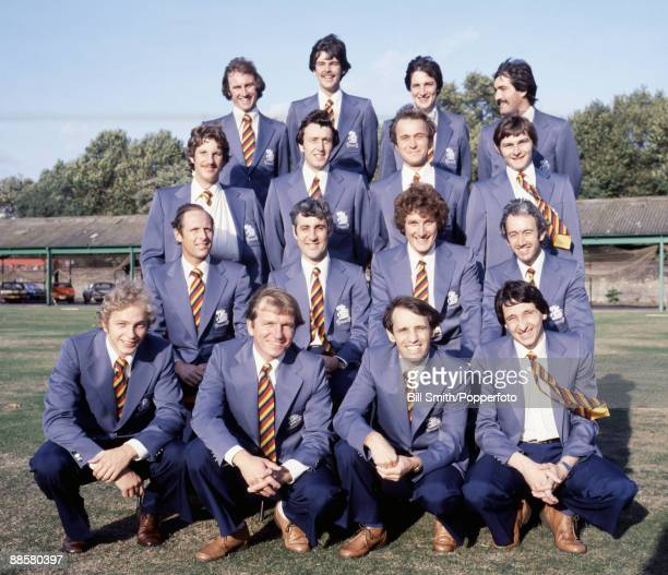 The England team for the Ashes cricket tour of Australia 19781979 pictured on the Nursery Ground at Lords prior to departure Back row John Lever...