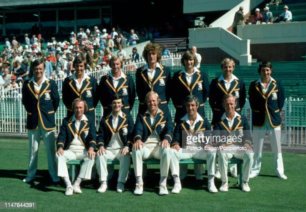 The England team for the Centenary Test match between Australia and England at the MCG Melbourne 13th March 1977 Pictured are Dennis Amiss Bob...