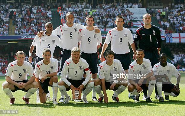 The England team group before the Fifa World Cup 2006 Qualifying Group Six Match between Wales and England at The Millennium Stadium on September 3,...