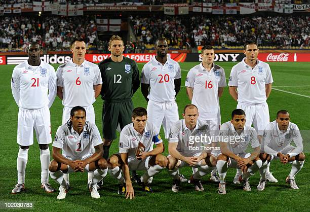 The England team group before the start of the 2010 FIFA World Cup South Africa Group C match between England and USA at the Royal Bafokeng Stadium...