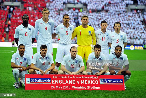 The England team group photo before the International Friendly match between England and Mexico at Wembley Stadium on May 24 2010 in London England