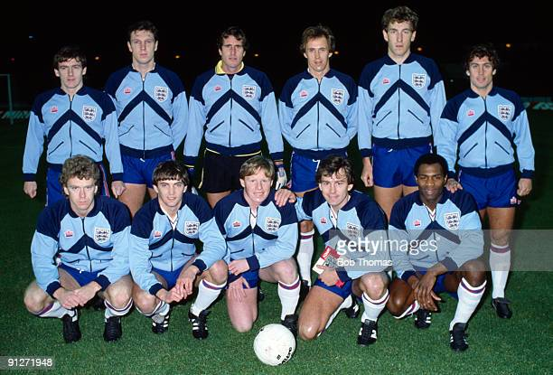 The England team group prior to the England v Luxembourg European Championship Qualifying match played at Wembley Stadium on the 15th December 1982...