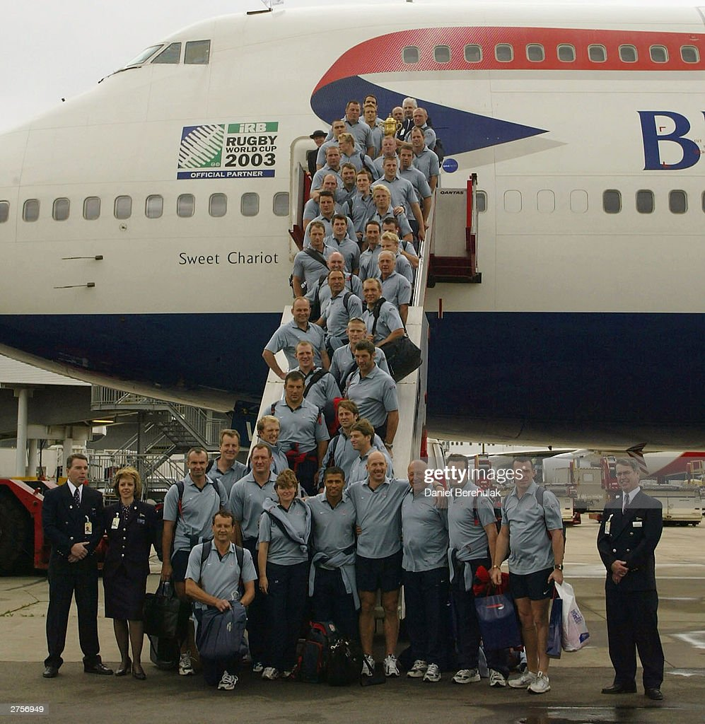 The England Rugby Team Depart For England  : News Photo