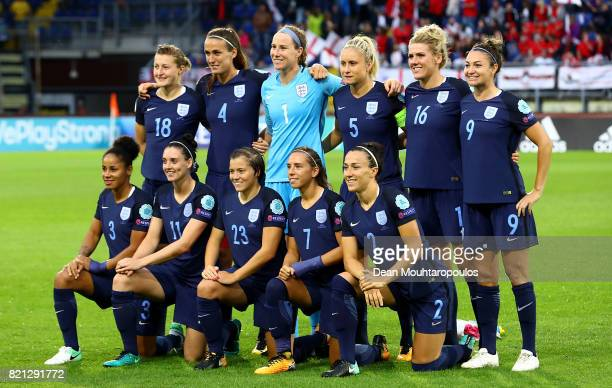 The England team line up ahead of the UEFA Women's Euro 2017 Group D match between England and Spain at Rat Verlegh Stadion on July 23 2017 in Breda...