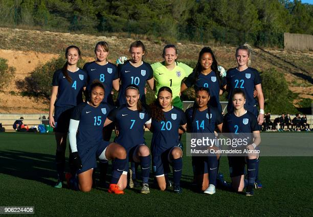 The England team line up for a photo prior to kick off during the international friendly match between U17 Girl's Germany and U17 Girl's England at...