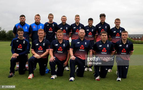 The England team pose for a photo during the INAS Learning Disability TriSeries Trophy game between England and Australia at Grappenhall Cricket Club...