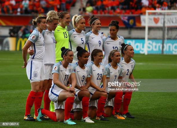 The England team pose for a picture ahead of the UEFA Women's Euro 2017 Semi Final match between Netherlands and England at De Grolsch Veste Stadium...