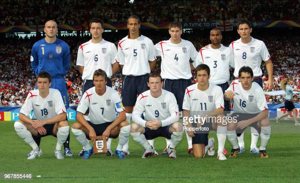 The England team prior to the FIFA World Cup Round of 16 match between England and Ecuador at the GottliebDaimler Stadion in Stuttgart on June 25th...