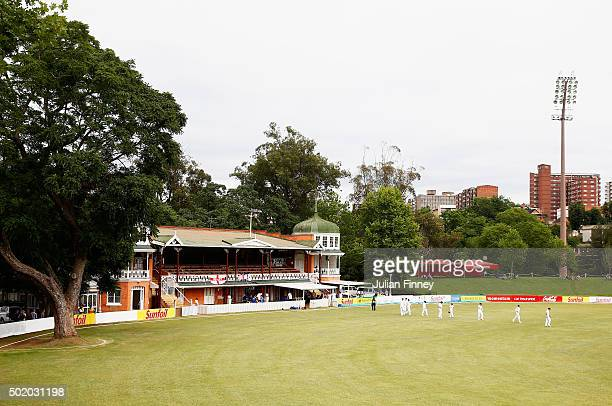 The England team walk out during day one of the tour match between South Africa A and England at City Oval on December 20, 2015 in Pietermaritzburg,...