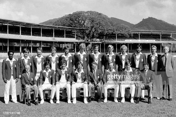 The England touring party before the 1st Test match between West Indies and England at Queen's Park Oval, Port of Spain, Trinidad, 11th February...