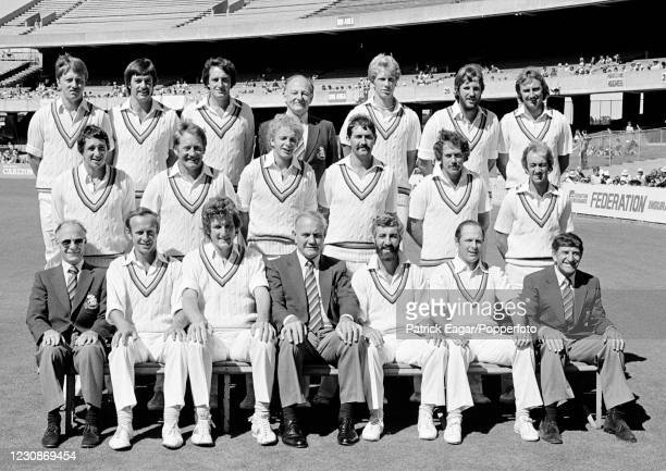 The England touring party during the 3rd Test match between Australia and England at the MCG, Melbourne, 3rd February 1980. Pictured are : Graham...