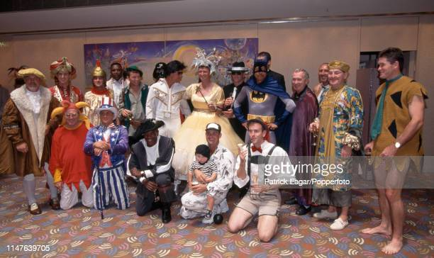 The England touring squad in fancy dress for the players Christmas lunch during the 2nd Test match between Australia and England at Melbourne...