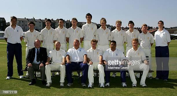 The England U19 Cricket Team, Back Row: Mark Thorburn , Liam Dawson, Chris Woakes, Billy Godleman, Alex Wakely, Steven Finn, Tom westley, Stuart...