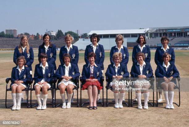 The England Women cricket team before the 2nd Test match between England Women and Australia Women at Edgbaston Birmingham 3rd July 1976 The players...