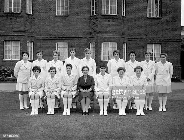 The England women's cricket team to tour Australia and New Zealand in the winter featuring Netta Rheinberg Women's Cricket Association Secretary