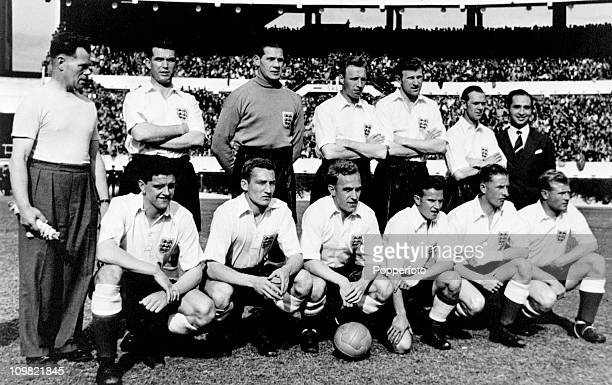 The England XI prior to the unofficial International fixture against a Buenos Aires select XI at the River Plate Stadium in Buenos Aires 14th May...