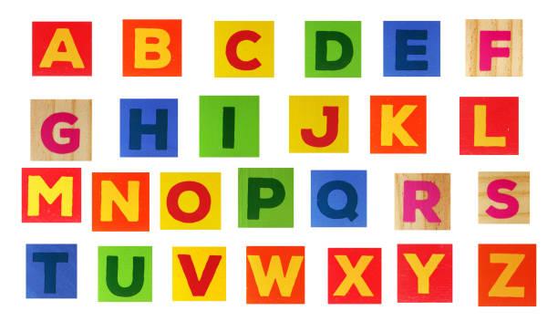 The English Alphabet On A White Background