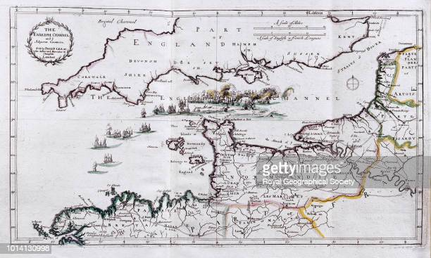 The English Channel and the adjacent countries From 'Atlas Factice' London Sold by Philip Lea at the Atlas and Hercules in Cheapside [1685] Map dated...