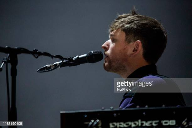 The english electronic singer and song writer James Blake performing live at Lowlands Festival 2019 on 18 August 2019 in Biddinghuizen Netherlands