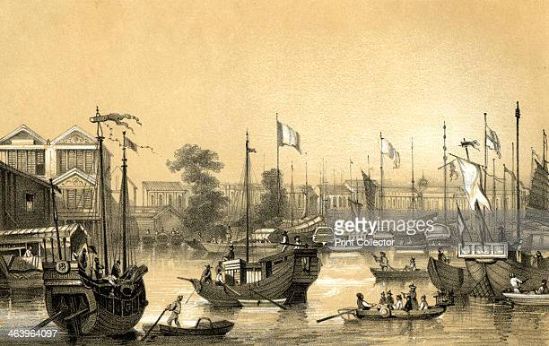 'The English factories at Canton' 1847 Guangzhou was a 'Factory' or trading port in China After the end of the first Opium War between Britain and...