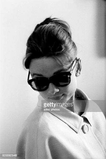 The English film actress Audrey Hepburn in Nice in 1960