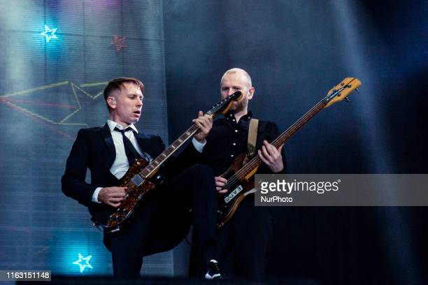The English indie rock band Franz Ferdinand performing live at Lowlands Festival 2019 on 18 August 2019 in Biddinghuizen Netherlands