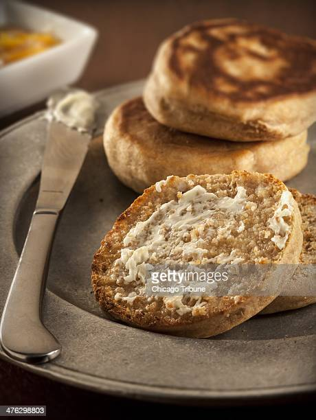 The English muffin is a direct descendant of the crumpet a yeastraised griddlecrisped pancake